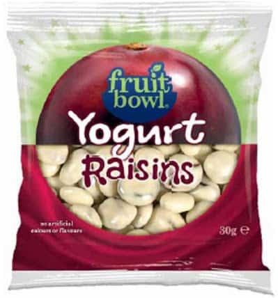 Fruit Bowl Yogurt Raisins
