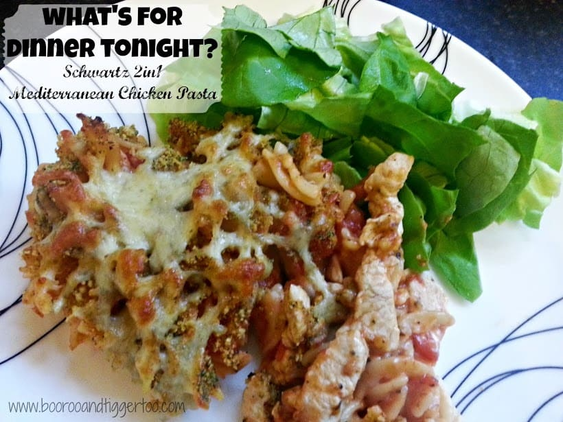 Boo Roo and Tigger Too: What's for dinner tonight? Mediterranean Chicken Pasta #Schwartz2in1