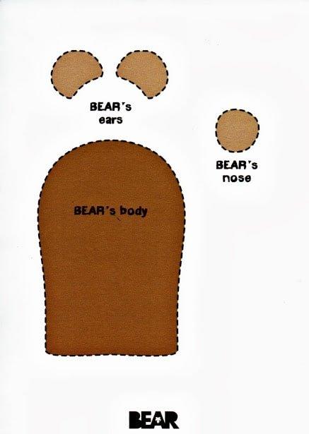 BEAR - BEAR finger puppet template