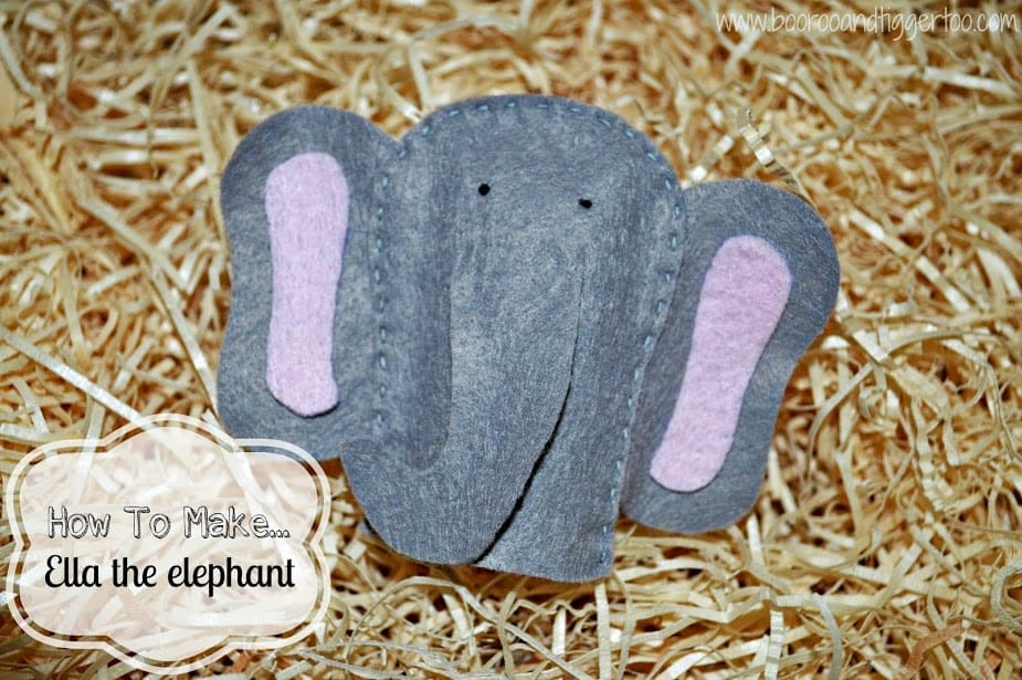 How To Make... Ella the elephant finger puppet