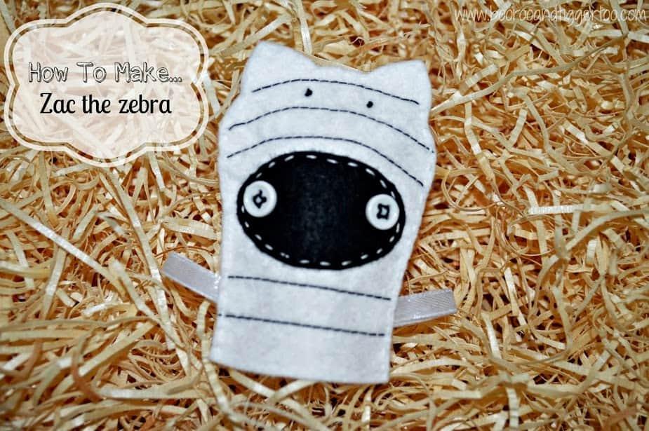 How To Make... Zac the zebra finger puppet