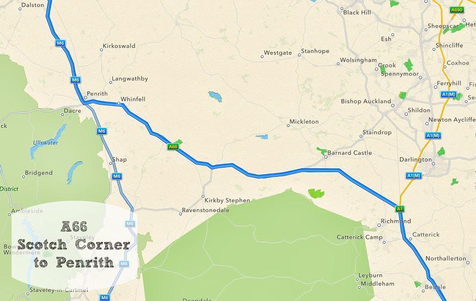 A66 Scotch Corner to Penrith #RoadTripChallenge