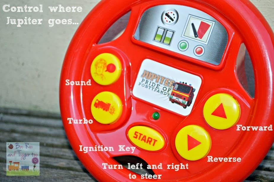 Fireman Sam Drive & Steer Jupiter Steering Wheel