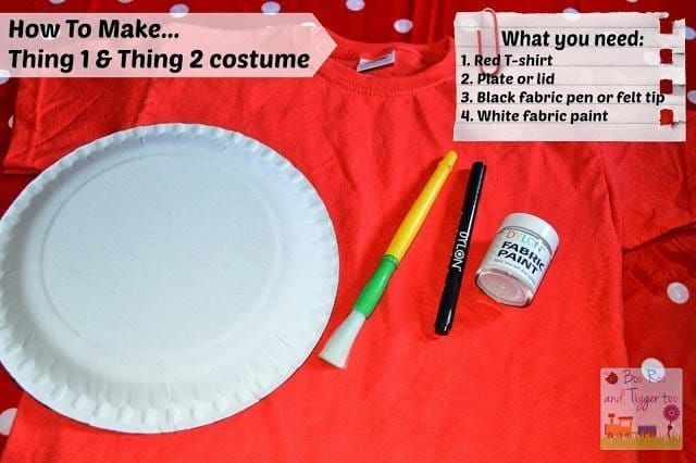How To Make Thing 1 And Thing 2 Costume Boo Roo And