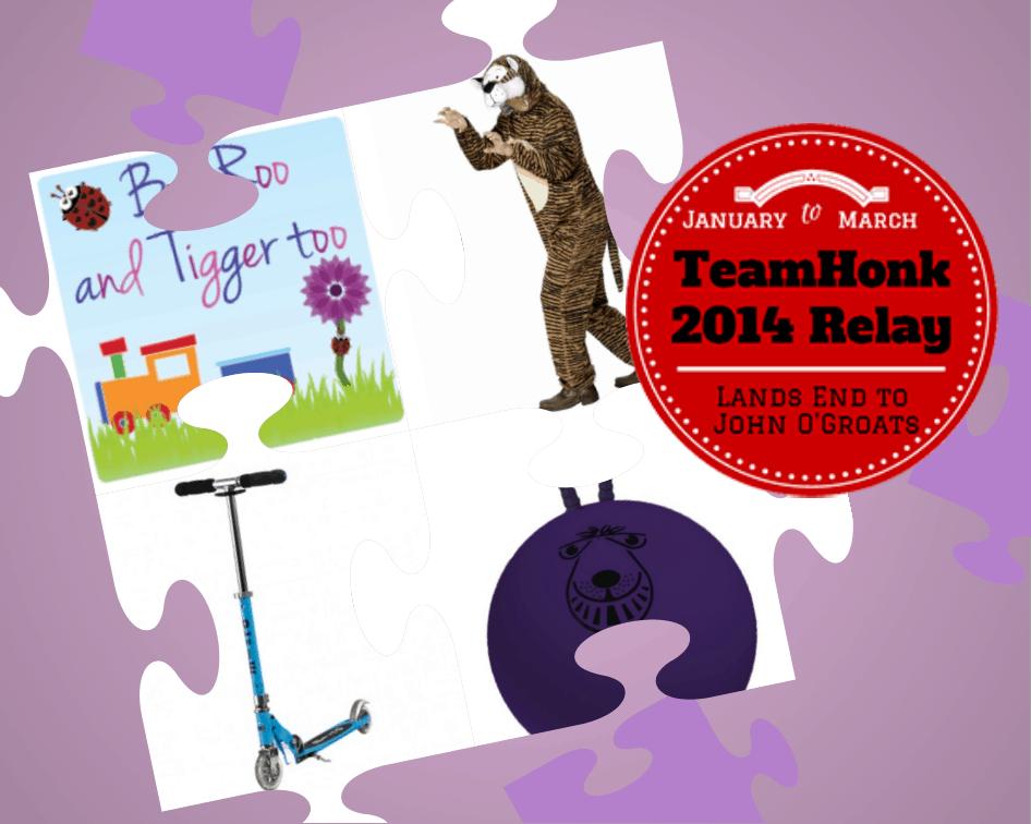 Boo Roo and Tigger Too #TeamHonkRelay