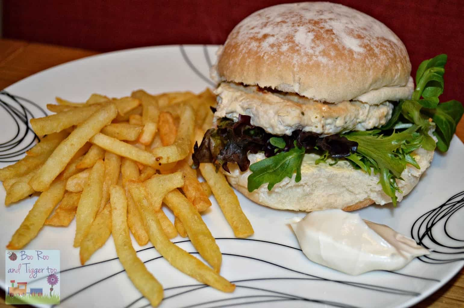 Turkey and Italian Herb Burger with Lemon Mayo and McCain French Fries {Recipe}