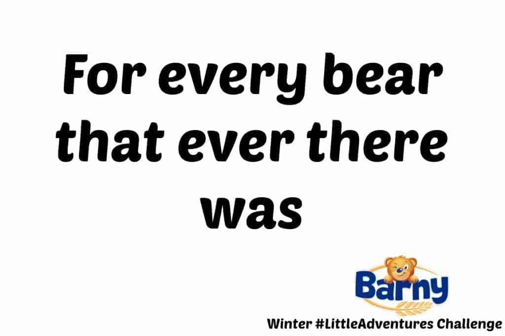 Barny Winter #LittleAdventures Challenge - For every bear that ever there was