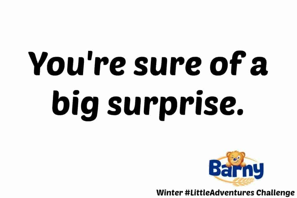Barny Winter #LittleAdventures Challenge - You're sure of a big surprise.