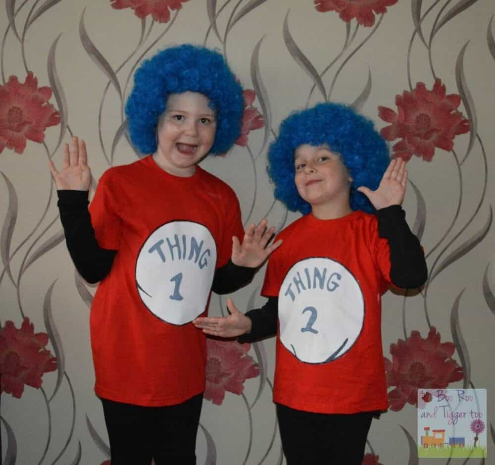 How to make Thing 1 and Thing 2 costume - Niamh and Roo (World Book Day Costumes)