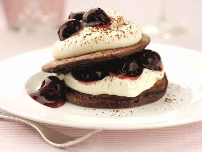 Black Cherry Chocolate Pancakes