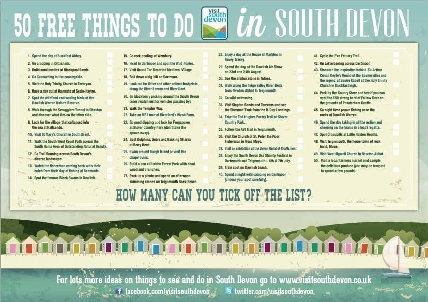 50 Free things to do in South Devon - Visit South Devon