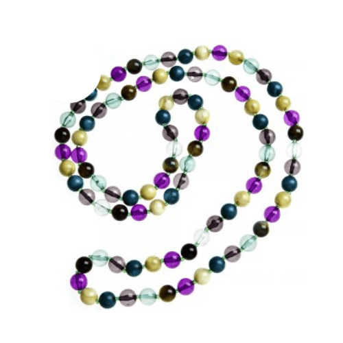 Camille Womens Ladies Fashion Jewellery Purple Green And Aqua Bead One Strand Necklace