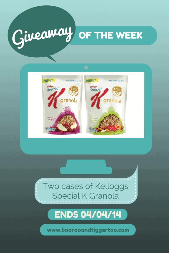 Giveaway - Kelloggs Special K Granola