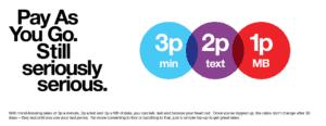 Three Mobile - PAYG free SIM tariff