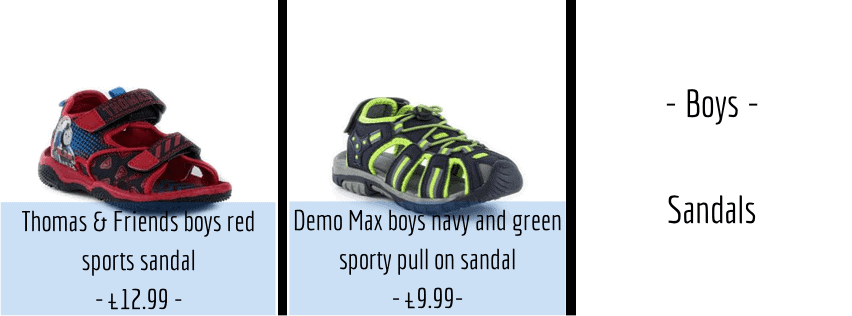 Easter Shoes - Boys Sandals