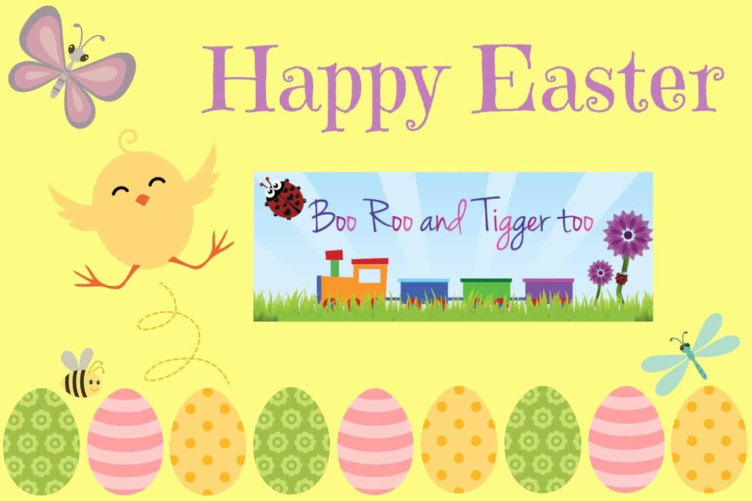Happy Easter from Boo Roo and Tigger Too