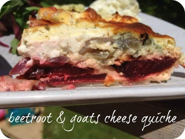 Mummy Mishaps - Beetroot and Goats Cheese Quiche