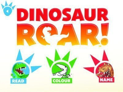 Dinosaur Roar! app menu