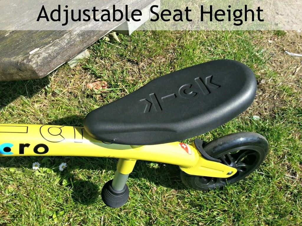 Micro Balance Bike - Adjustable seat height