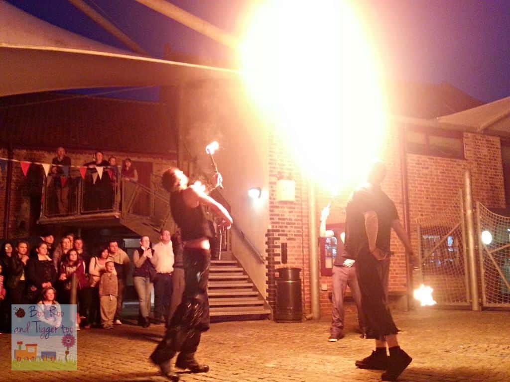 Museum At Night - The Spectacular Foolhardy Circus Fire Show Finale