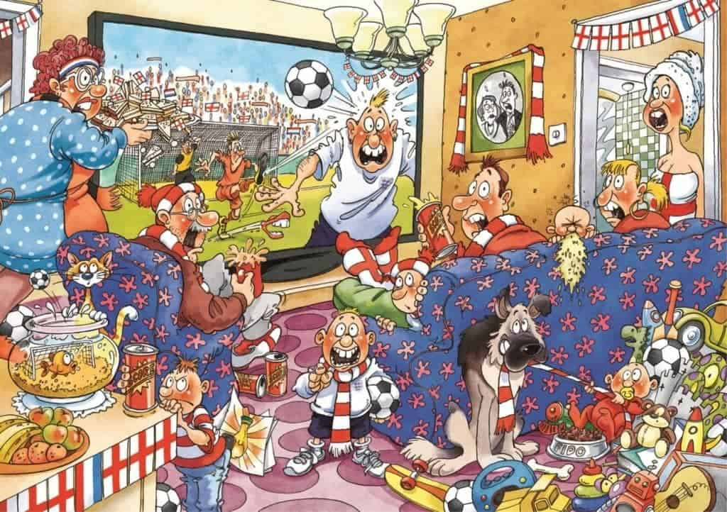 Wasgij Original 21 Football Fever Jigsaw Puzzle