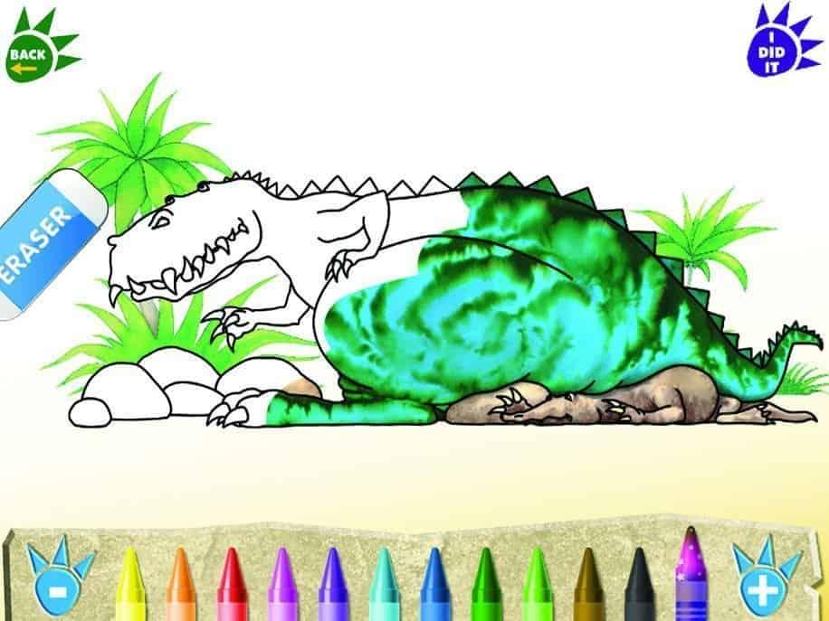 Dinosaur Roar! app colour