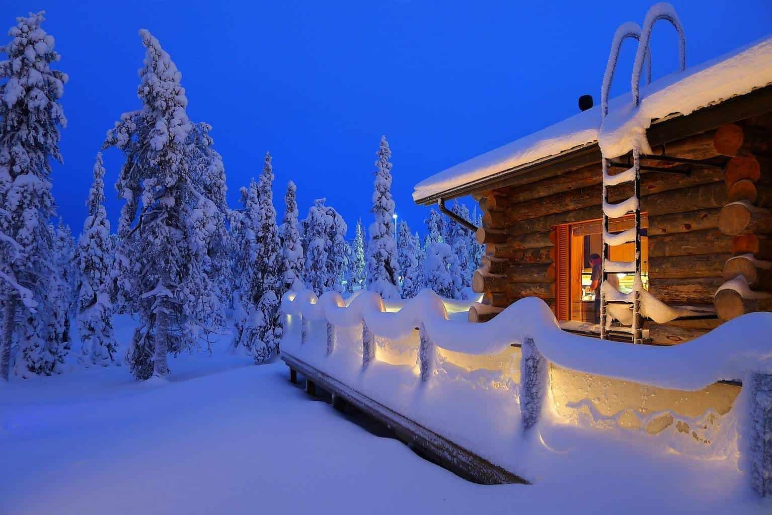 Новый год зимой в финляндии