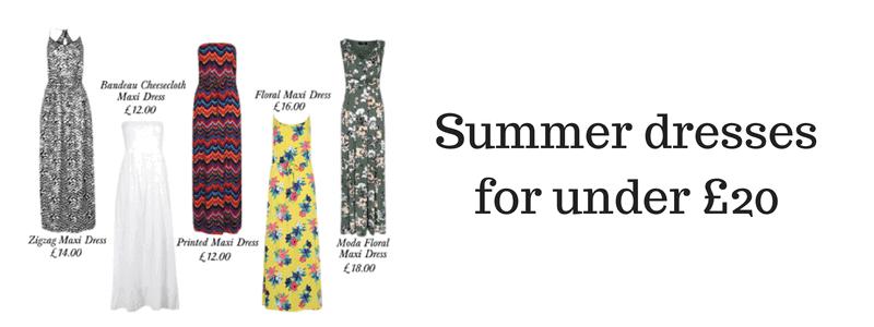 Summer dresses for under £20