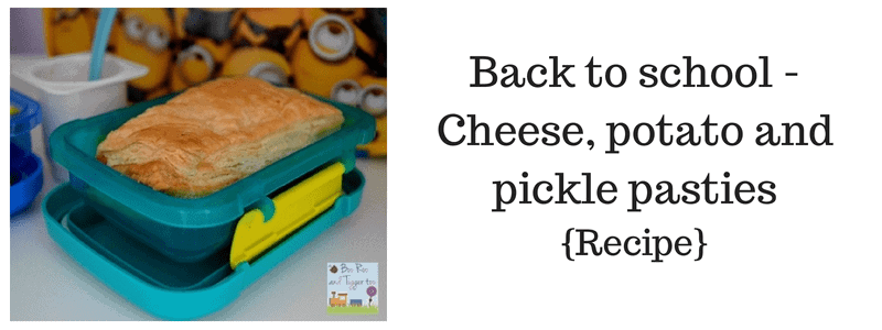 Back to school – Cheese, potato and pickle pasties {Recipe}
