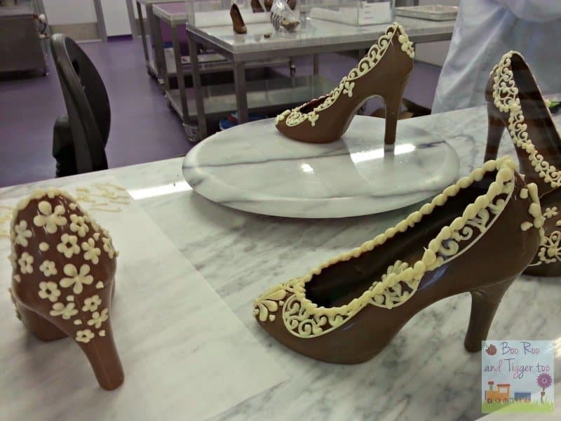 Cadbury World - Chocolate shoes