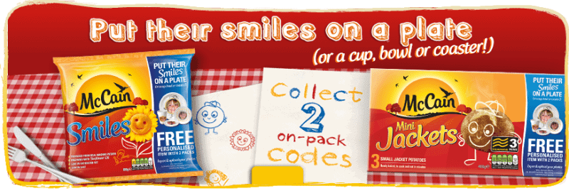 McCain Smiles - Put their smiles on a cup