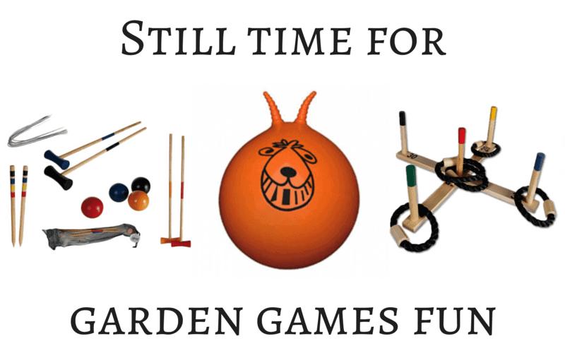 Still time for garden games fun