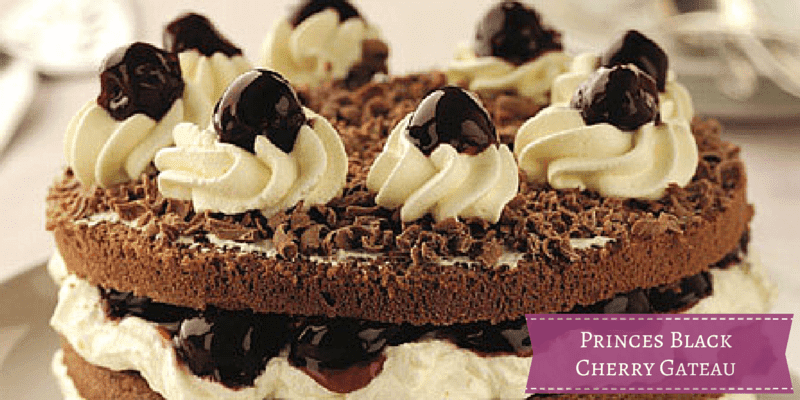 Princes Black Cherry Gateau {Recipe}