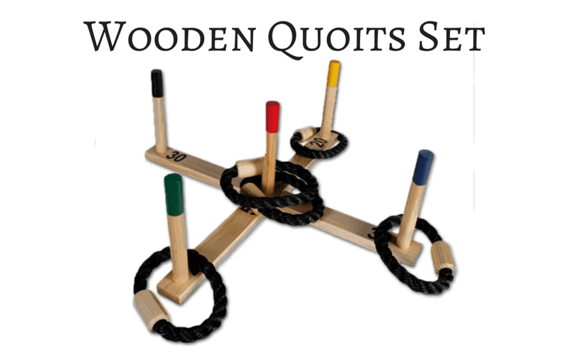 Wooden Quoits Set