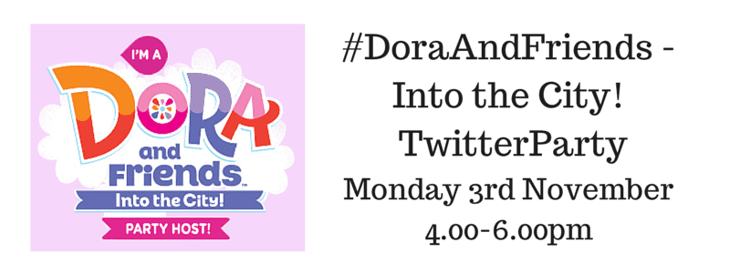 Join me for the #DoraAndFriends – Into the City! Twitter Party