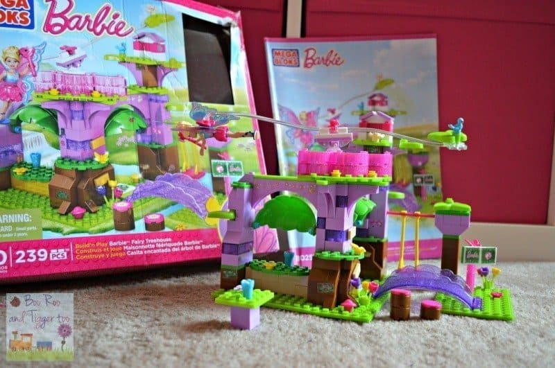 Mega Bloks Barbie Build N Play Fairy Treehouse