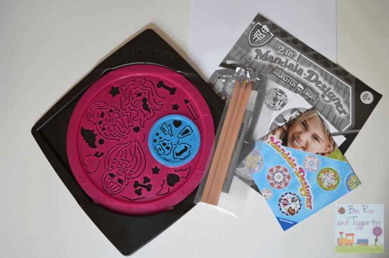 Ravensburger Monster High 2-in-1 Mandala Designer - Contents