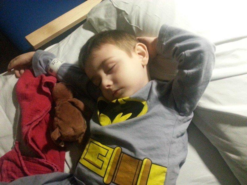 Tigger - sleeping in hospital