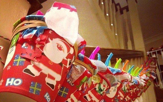 Homemade Christmas Cups Advent Calendar