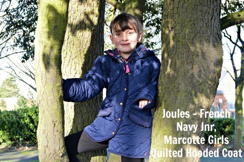 Joules - French Navy Jnr, Marcotte Girls Quilted Hooded Coat