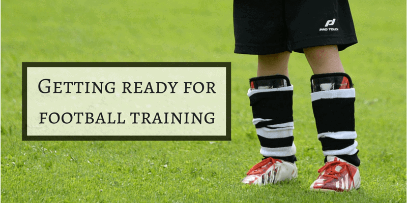 Getting ready for football training