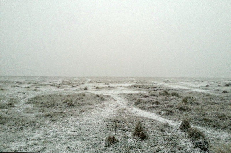 Silent Sunday - Snow at Scroby Sands