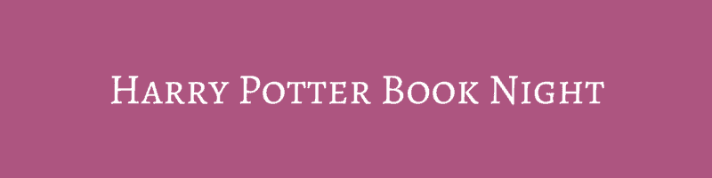 Harry Potter Book Night ~ Harry potter book night boo roo and tigger too