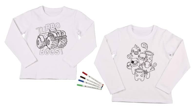 Children's colour in t-shirt from Aldi
