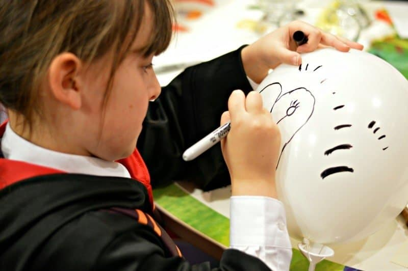 Waterstones Harry Potter Night - Roo Making a Balloon Owl