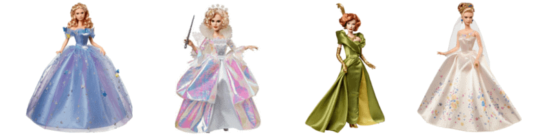 Disney Cinderella doll collection