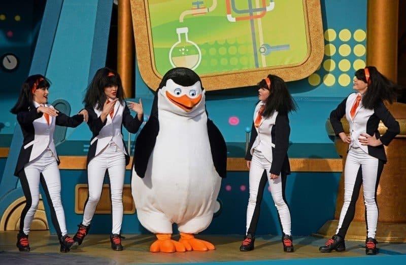 Private plus dancers. Penguins of Madagascar Live! Operation Cheezy Dibbles