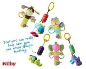 Nuby Baby Pram Teethers-Rattles