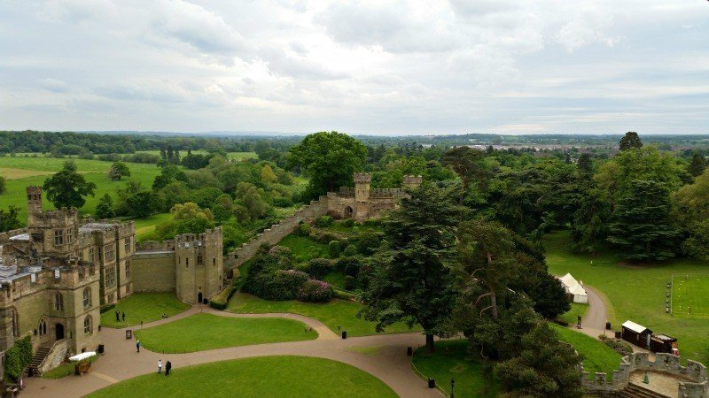 Warwick Castle - Top of Guy's Tower
