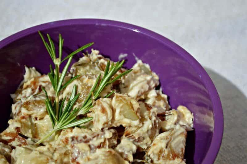 Garlic and rosemary potato salad A